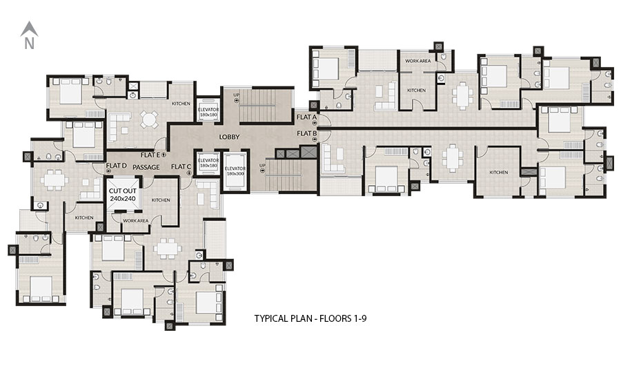 Typical Plan Floors 1-9