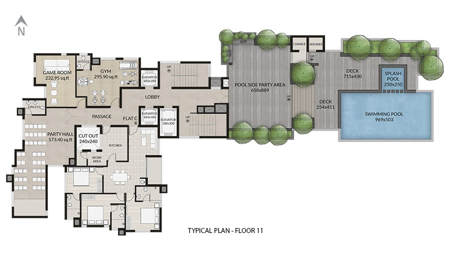 Typical Plan Floor 11