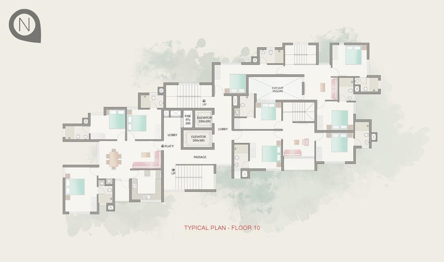 Typical Plan - Floor 10