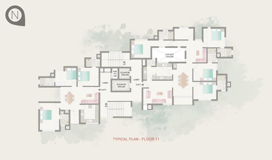Typical Plan - Floor 11
