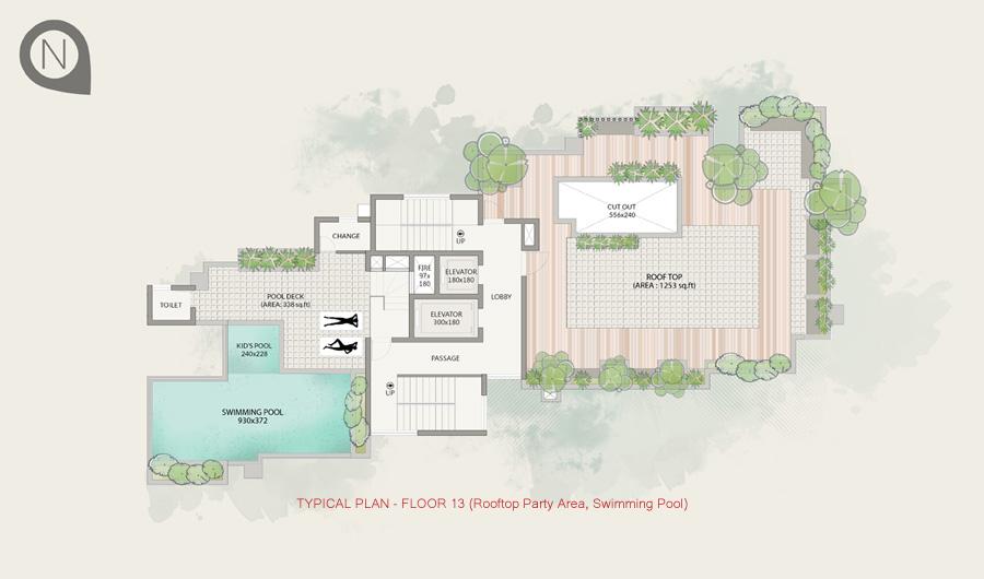 Typical Plan - Floor 13