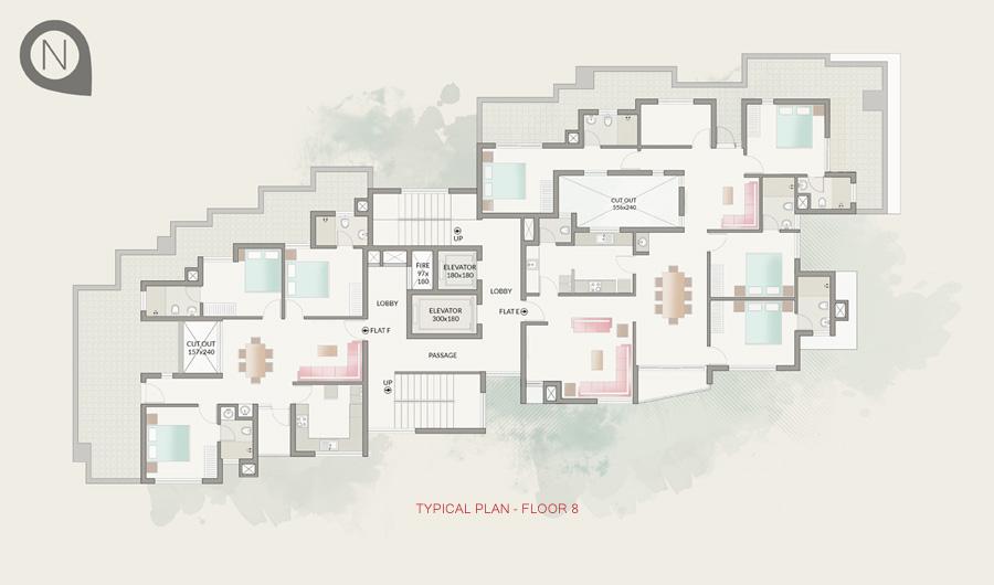 Typical Plan - Floor 8