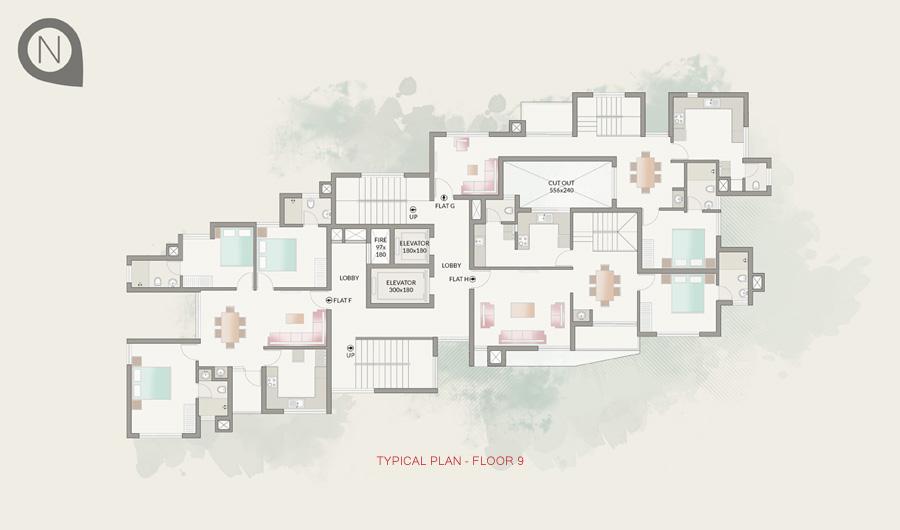 Typical Plan - Floor 9
