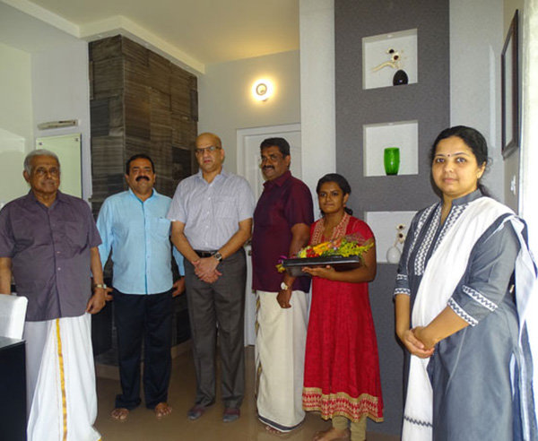 Our team with Mr. Dilip & family of apartment C 2  in Crescent Aster after handing over