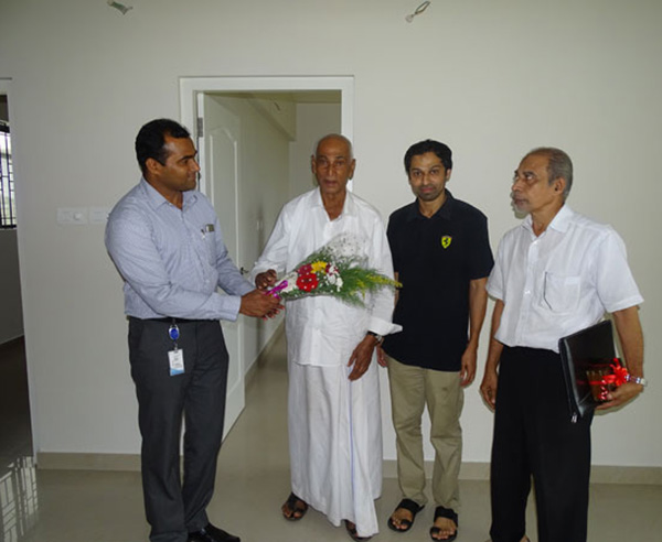 Our GM - Sales & Marketing greeting Mr. Muhammed Shahid  & family of apartment D 8 in Crescent Aster during handing over ceremony.