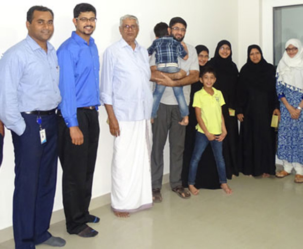 Our team with Ms. Zubaida & family of apartment A 10 in Crescent Aster after handing over.