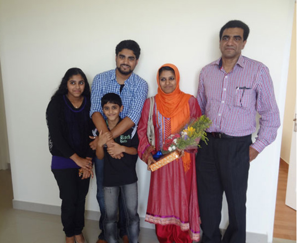 Mr. Bava Usman and family during apartment handing over ceremony