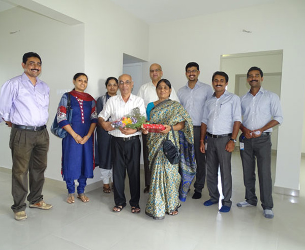 Our team with Chandran  & family of apartment C 10 in Crescent Aster after handing over