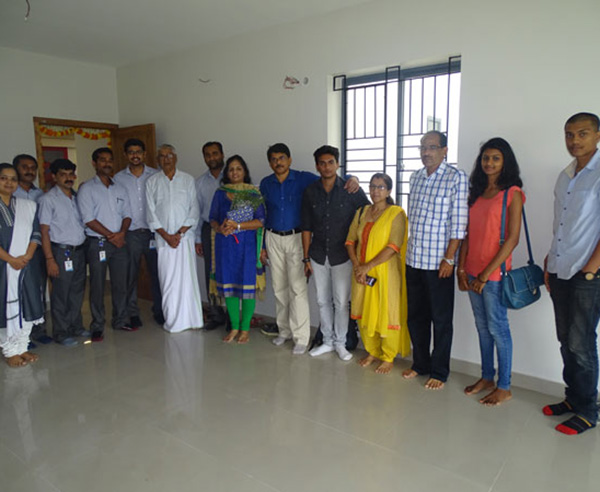 Our team with Mr. Renjith & family of apartment B 13 in Crescent Aster after handing over