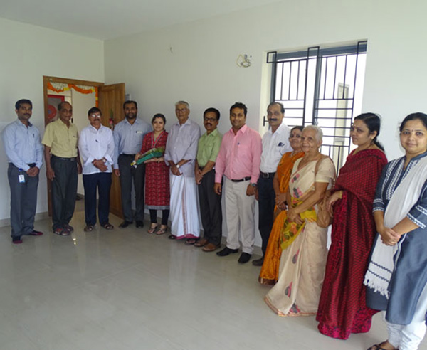 Our team with Mr. Mithun Vinayak & family of apartment B 11 in Crescent Aster after handing over