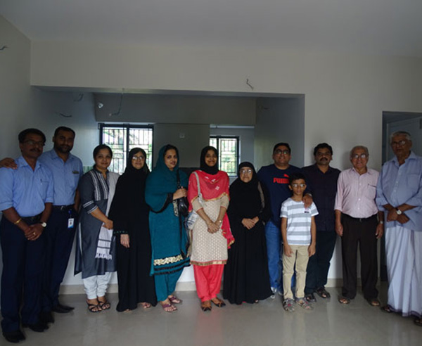 Our team with Mr. Remil Ismail & family of apartment C 3 in Crescent Aster after handing over