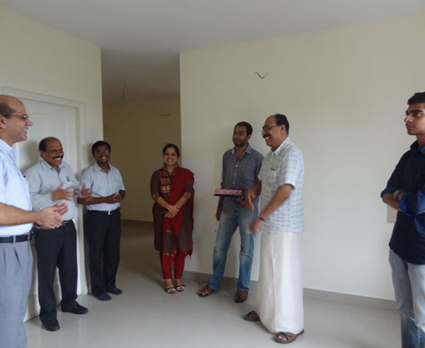 Mr. Jamal and family, of apartment no B 5 in Crescent Mansa during handing over ceremony