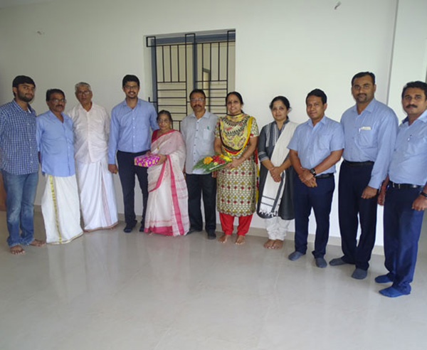 Our team with Mr. Viswanath & family of apartment B 4 in Crescent Aster after handing over