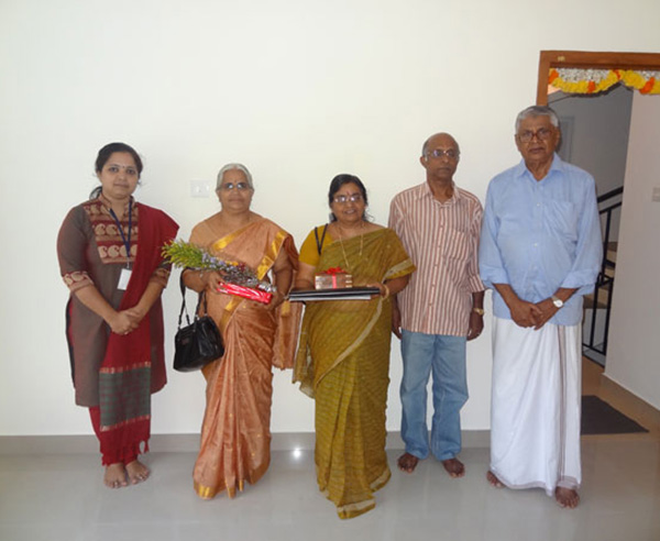 Ms. Lathika , of apartment no A 2 in Crescent Mansa during handing over ceremony