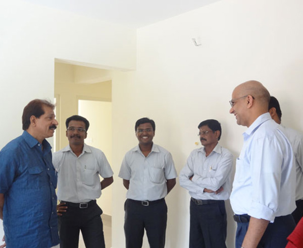 Mr. Mohamed Kutty, of apartment no B 1 in Crescent Mansa during handing over ceremony