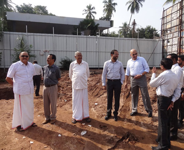 A lighter moment during the ground breaking ceremony of Platinum Crescent.