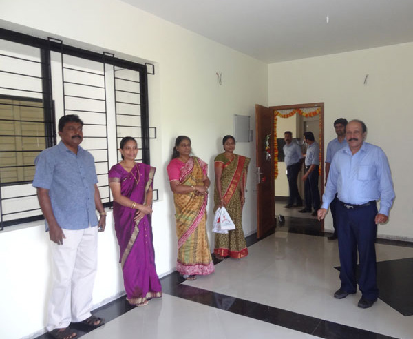 Ms.Sneha Prabha & family, of apartment B 4  in Crescent Iris during handing over ceremony.