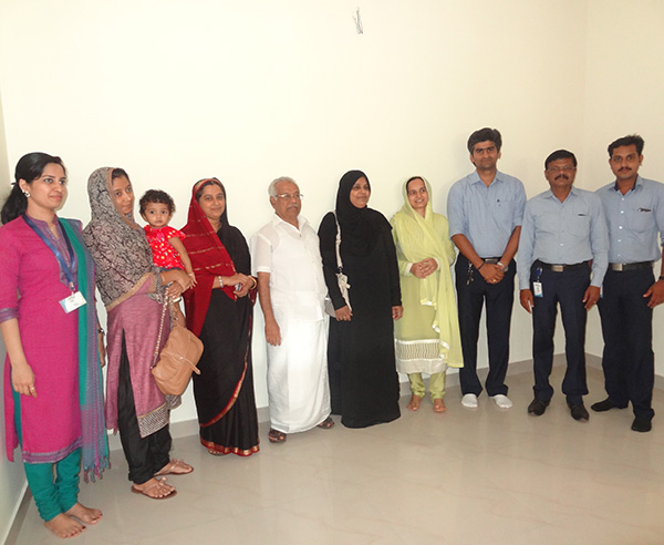 Mr.Salahuddin & family, of apartment C 2 in Crescent Iris during handing over ceremony.