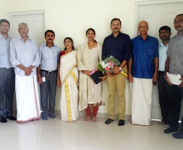 Our team with Mr.Wills & family of apartment C 5 in Crescent Iris after handing over.