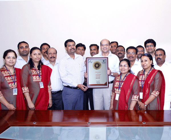Our team after receiving the CRISIL certificate, from Mr.Surendran of  CRISIL on 30-08-2013.