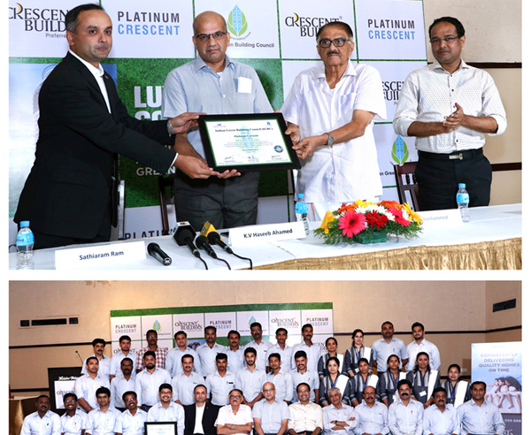 Platinum Crescent awarded IGBC Green Homes Silver Precertification