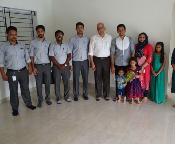 Our team with Mr. Kunhimohammed and family of apartment A 3 in Crescent Tulip after handing over