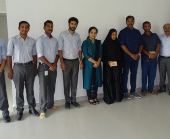 Our team with Mr. Thekke Keloth Jafar Ali of apartment D 4 in Crescent Aster after handing over