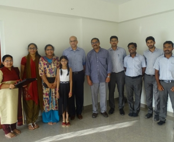 Our team with Mr. Vinod Kumar Menon and Family of apartment no. A 5 in Platinum Crescent after handing over