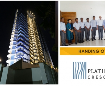 Our team with Mr.Ajir Punathil & family of apartment D 4 in Platinum Crescent after handing over.