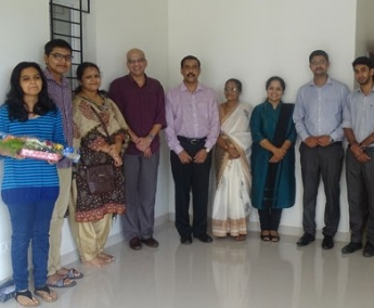 Our team with Dr. Jayachandran and family of apartment B 5 in Crescent Tulip after handing over