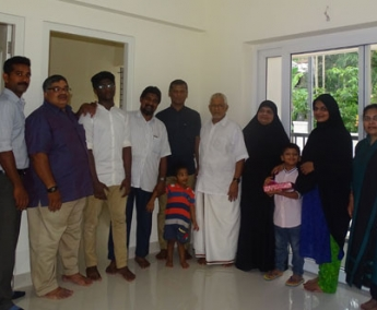 Our team with Mr. Abdul Hakeem and Family of apartment no. D 1 in Space on Earth, Malaparamba  after handing over.