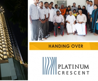 Our team with Mr. K. P. Abdul Hakeem and Family of apartment no. C 6 in Platinum Crescent after handing over.