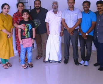 Our team with Mr. Palassery Harish and Family of apartment no. B 3 in Crescent Tulip after handing over.