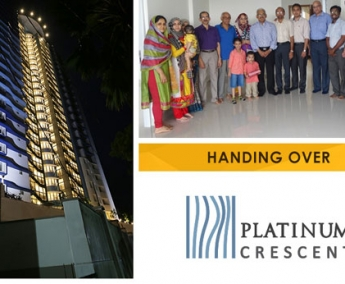 Our team with Mr. Harris Anwar and Family of apartment no. A 16 in Platinum Crescent after handing over.