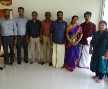 Our team with Mr. Suresh Kumar and Family of apartment no. E 2 in Space On Earth, Malaparamba after handing over.