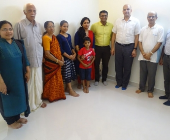 Our team with Mr. Gopan C and Family of apartment no. A 1 in Space On Earth, Malaparamba after handing over.