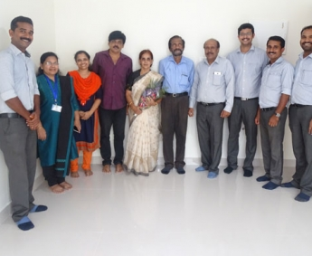 Our team with Mr. P. V. Sankaran and Family of apartment no. E 1 in Space On Earth, Malaparamba after handing over.