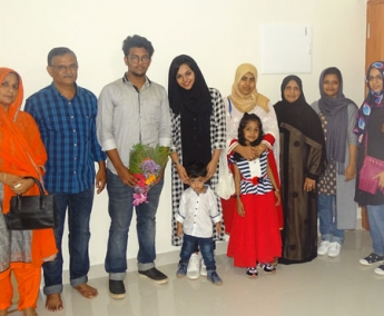 Ms. Hasna and Family of apartment no. F 2 in Space On Earth, Malaparamba after handing over.