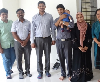 Our team with Ms. Farheen Nasser and family of apartment no. B 1 in Crescent Tulip after handing over.