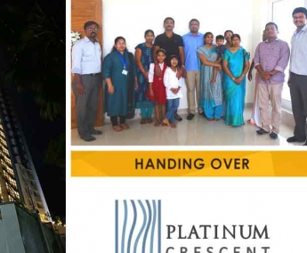 Our team with Mr. Deepesh Damodaran & Family of apartment no. D 18 in Platinum Crescent after handing over.