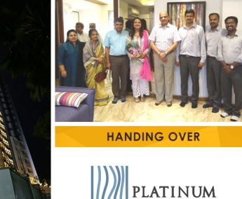 Our team with Dr. Suneel Mohammed &Family of apartment no. B 2 in Platinum Crescent after handing over.