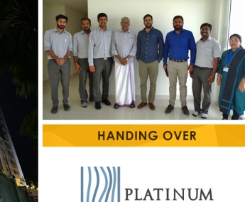 Our team with Mr. Mohammed Turabali of apartment no. B 21 in Platinum Crescent after handing over.