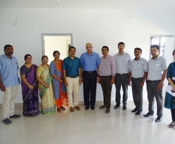 Our team with Mr. K.R Ranjith and Family of apartment no. C 4 in Crescent Zinnia after handing over