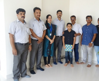 Our team with Mr. Muhammed Ashraf A and Family of apartment no. A 2 in Crescent Zinnia after handing over