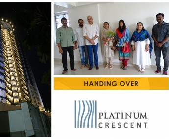 Our team with Ms. Shereefa Zakeer & Family of apartment no. A 3 in Platinum Crescent after handing over