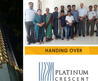 Our team with Mr. Dasan Chaloli Thazhe Kuniyil  & Family of apartment no. A 7 in Platinum Crescent after handing over