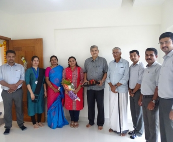 Our team with Dr.C.M.Krishna Kumar & Family of apartment no. D 7 in Crescent Zinnia after handing over.