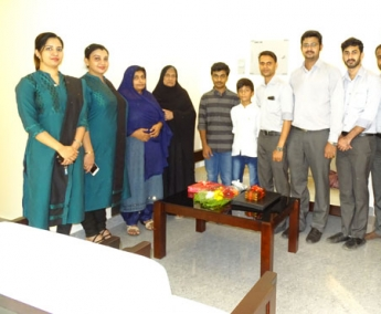 Our team with Ms.Bushra Thoovilikkattu & Family of apartment no. D 3 in Crescent Zinnia after handing over.
