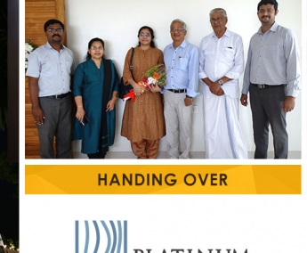 Our team with Mr. Udaysankar & Ms. Anitha Sankar of apartment no. D 5 in Platinum Crescent after handing over