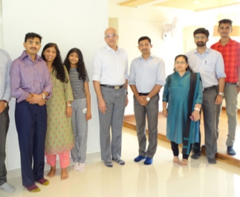 Our team with Mr.K.P Balachandran & family of apartment no B 04 in Platinum Crescent, after handing over